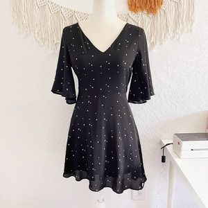 Gianni Bini Bell Sleeve Star Print Dress
